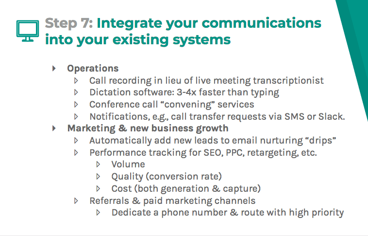 Integrate into your existing systems