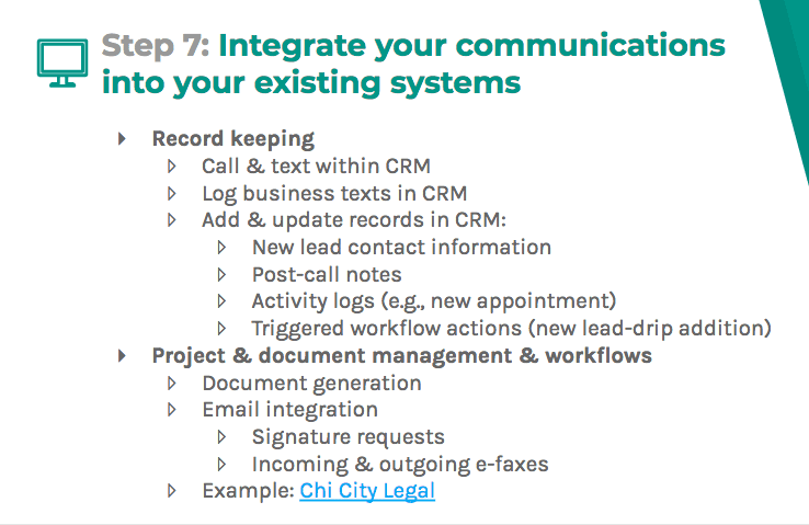 Integrate your communications into your existing systems