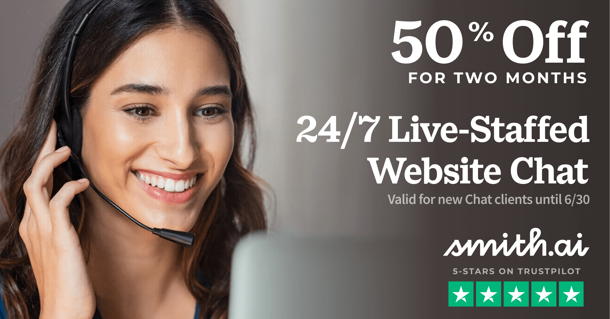 Get 50% Off Smith.ai Live Chat for 2 Months — Ends June 30, 2021