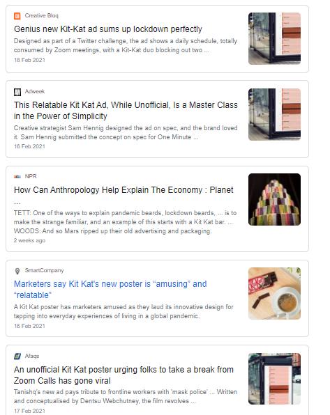 Kitkat ad on Google