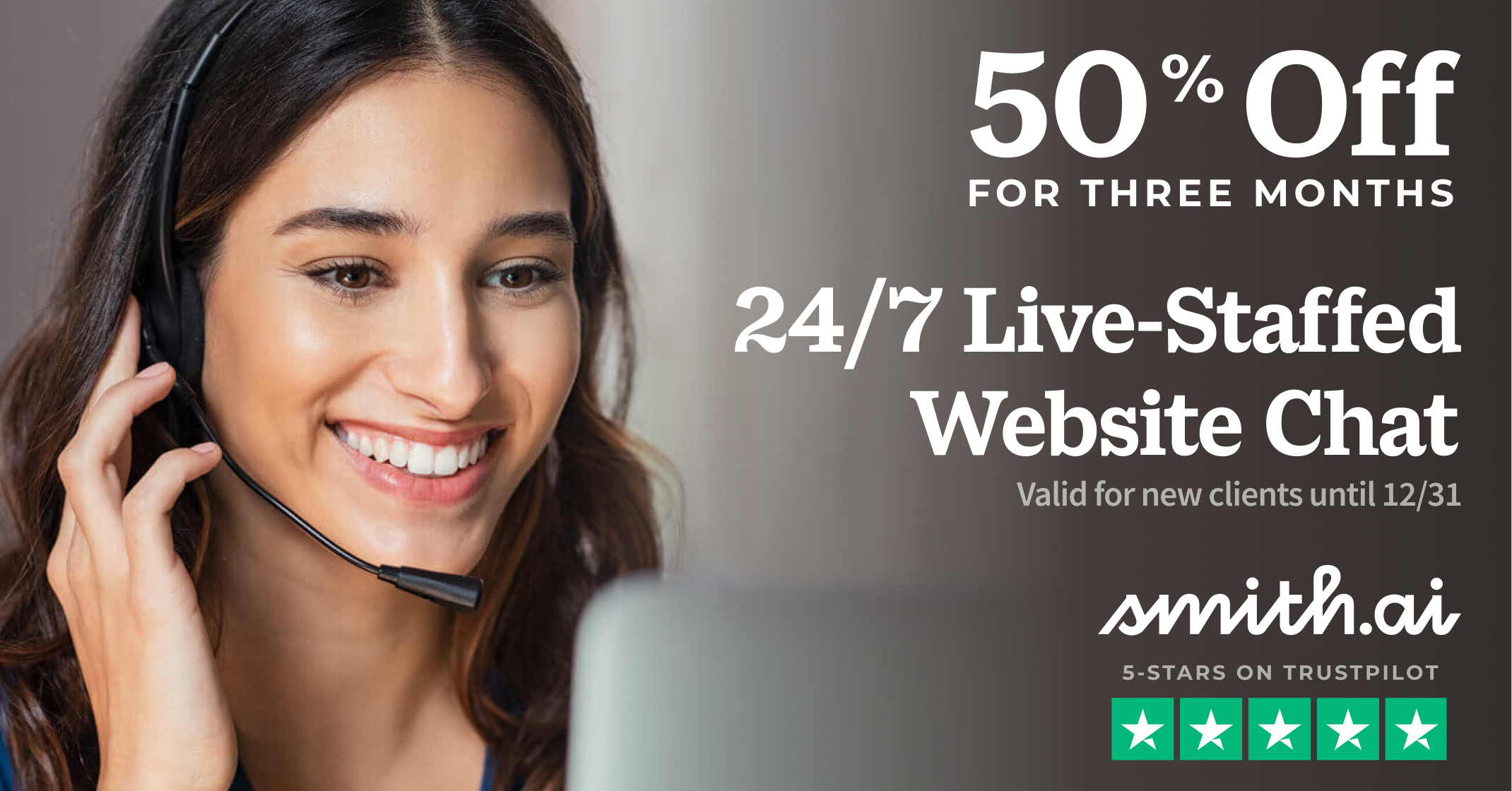 Get 50% Off Smith.ai Live Chat for 3 Months — Ends Dec 31, 2021