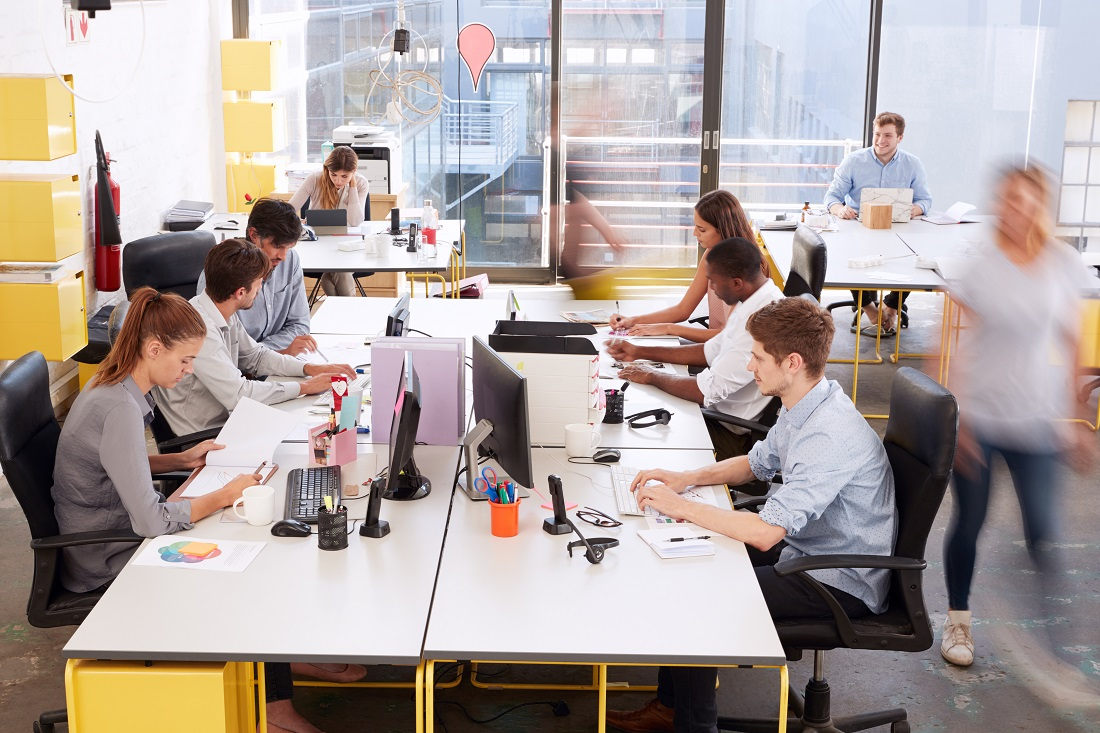 Group of Entrepreneurs Working In NYC Workspace