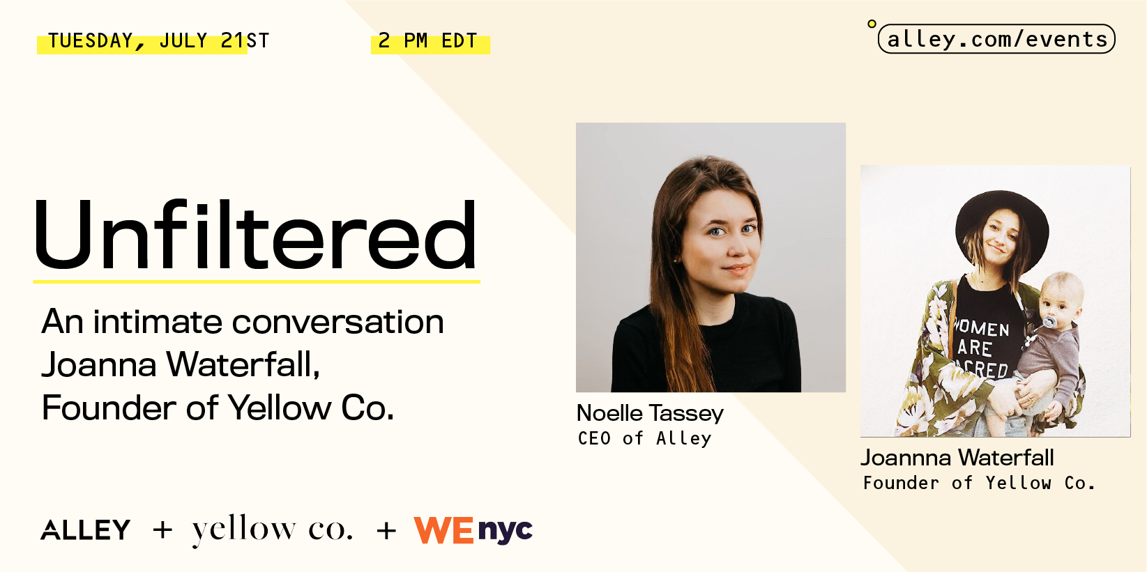 Unfiltered: Joanna Waterfall Founder of Yellow Co.