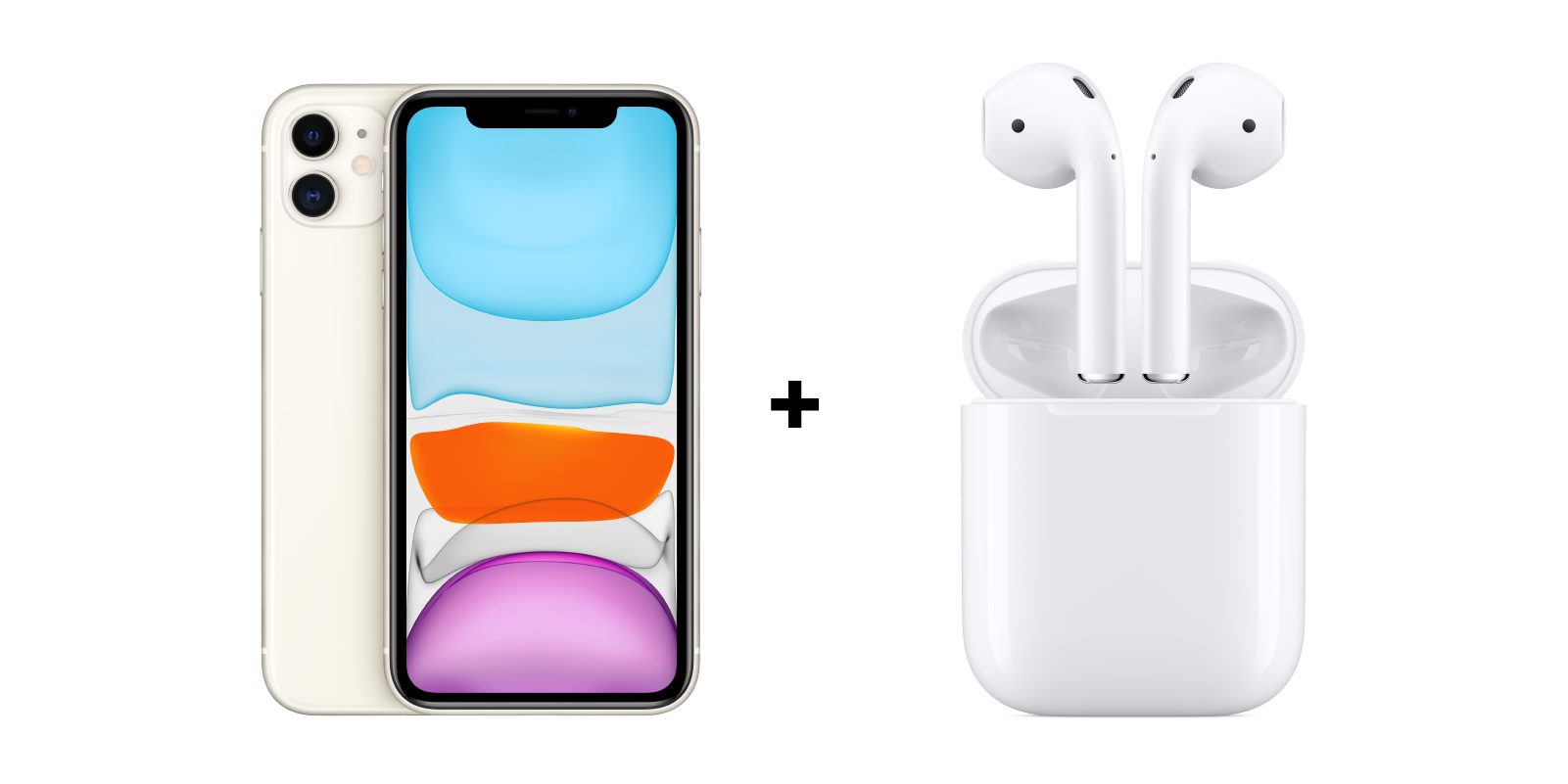 iPhone + AirPods