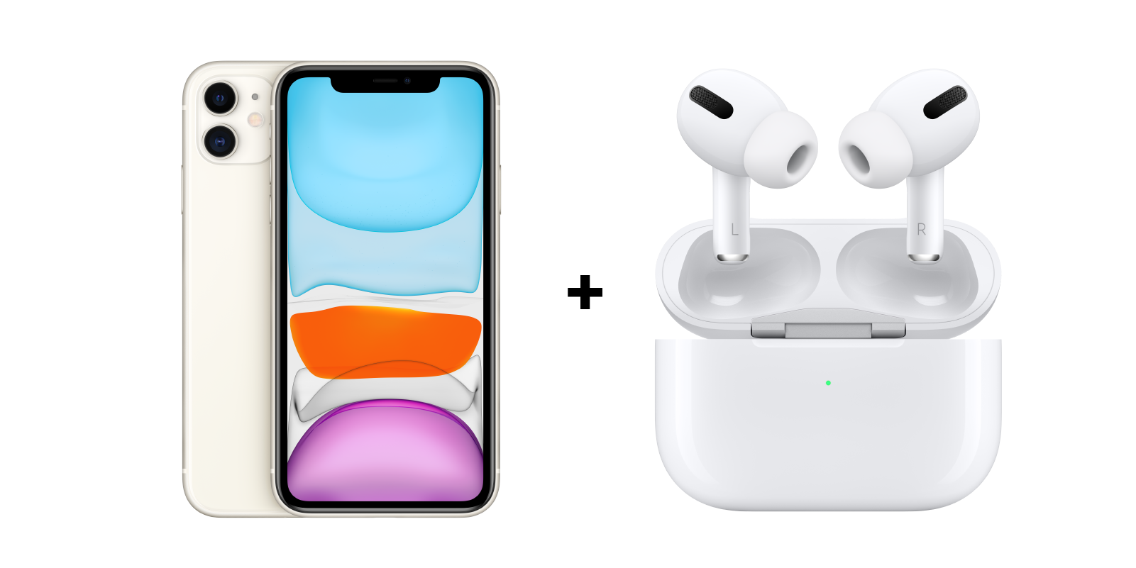 iPhone + AirPods Pro