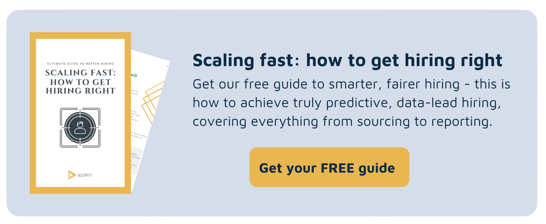 Scaling fast guide