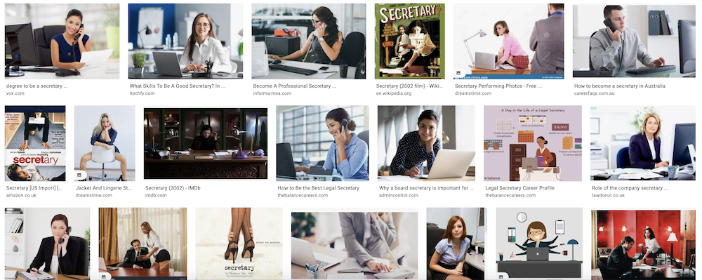 Image search results for secretary