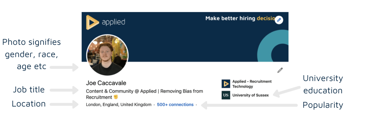 LinkedIn profile unconscious bias