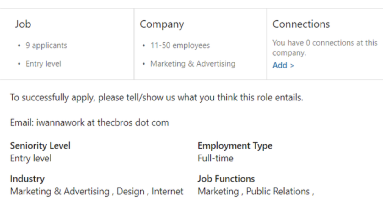 Example of vague job description