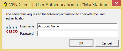 Windows VPN User Authentication