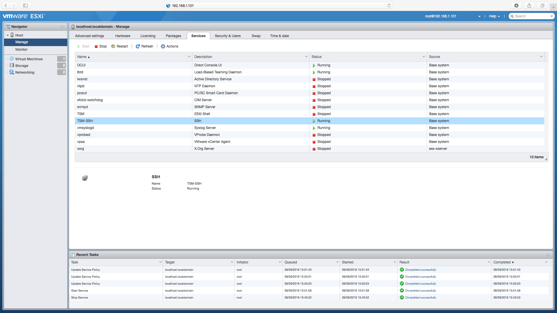 Enable SSH Screen 4a