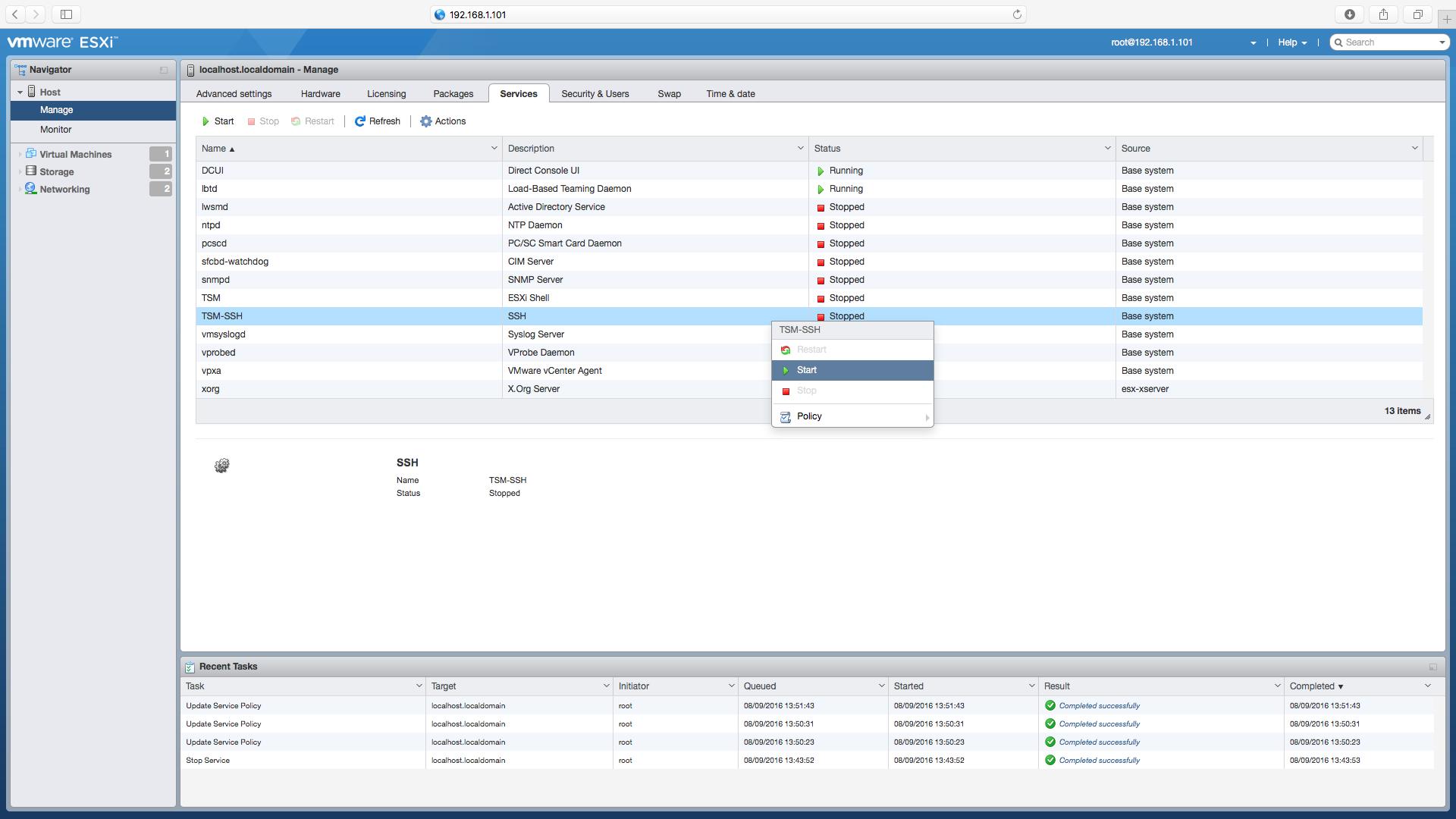 Enable SSH Screen 4