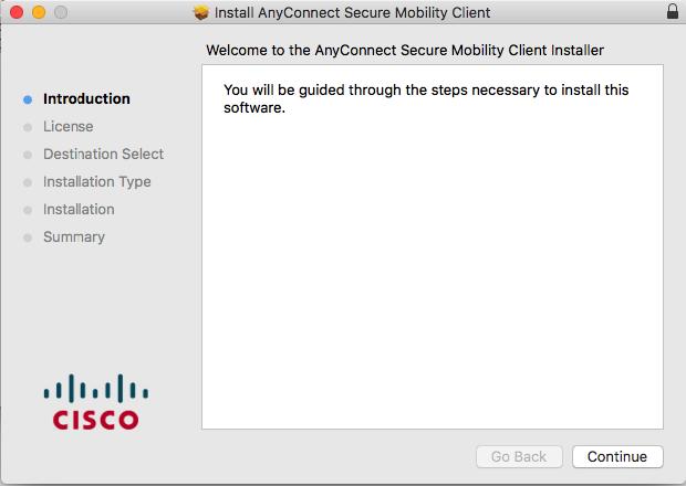 Configure Cisco AnyConnect Secure Mobility Client | MacStadium