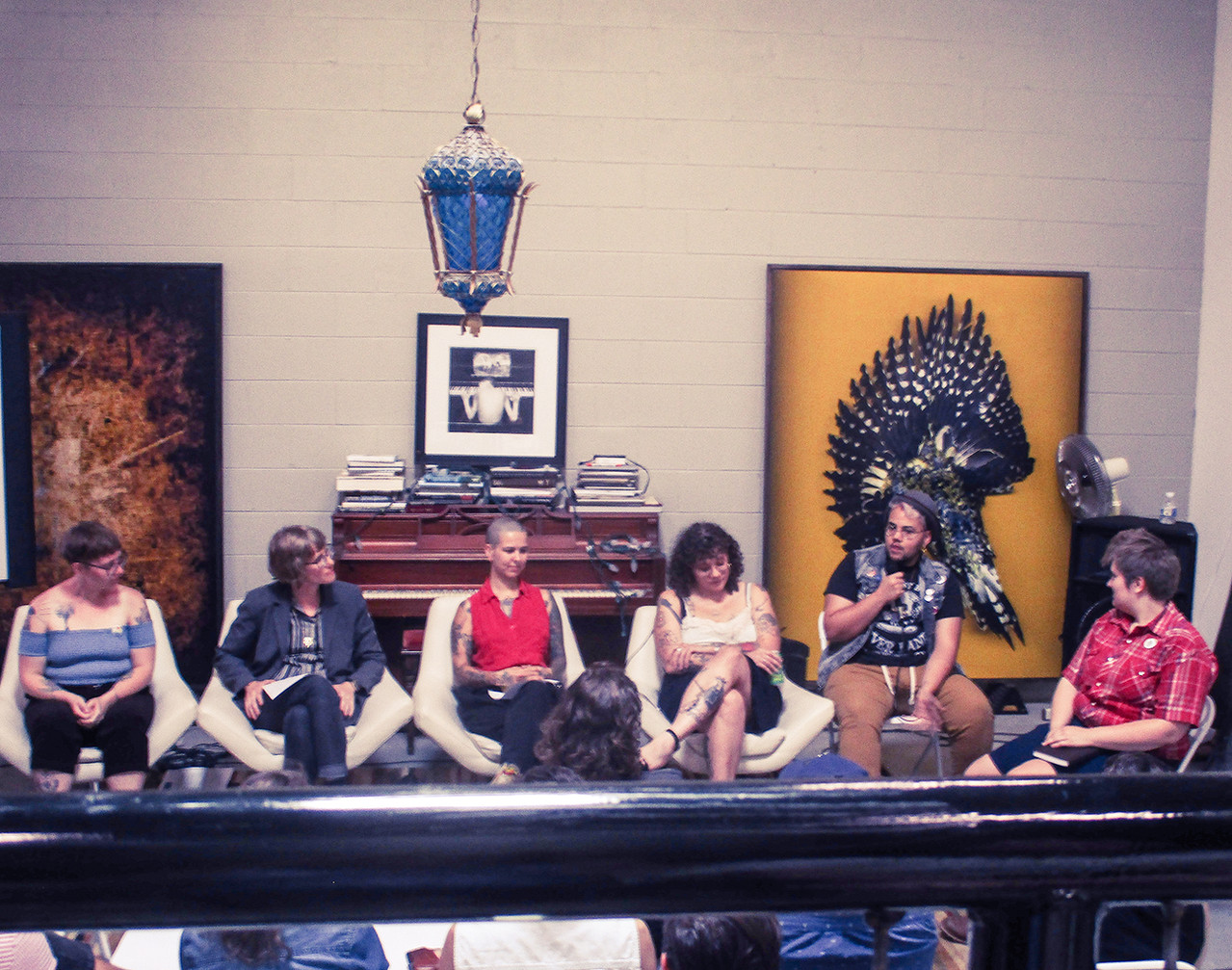 A panel discussion at Revolve Asheville.