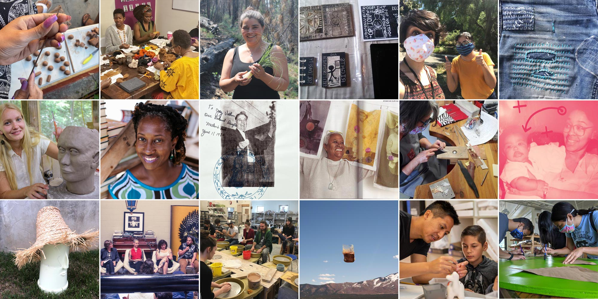 grid collage of craft future fund grant recipients