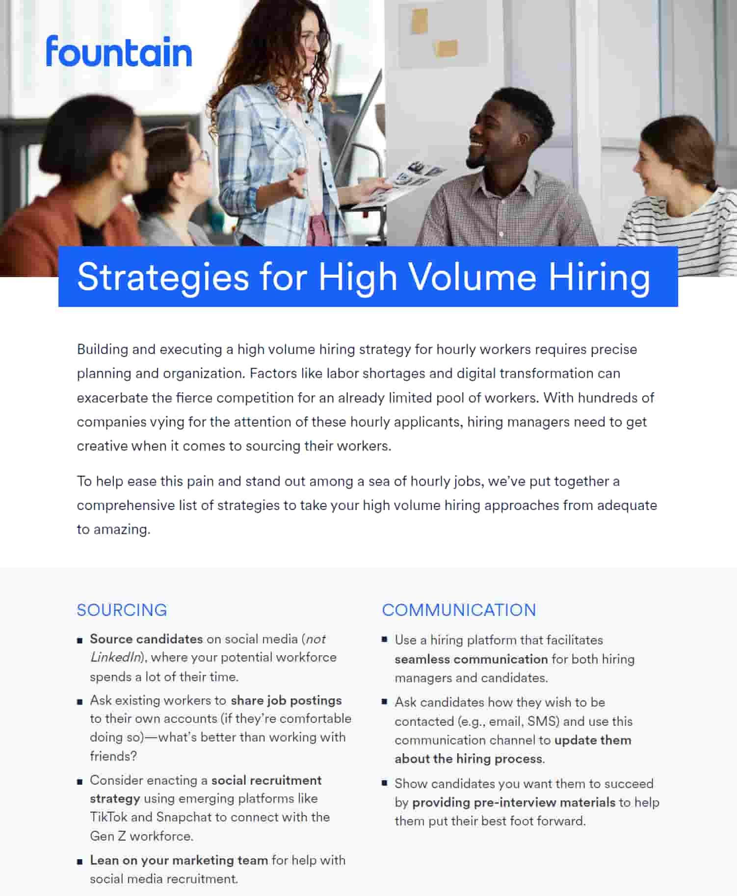 Strategies for High Volume Hiring
