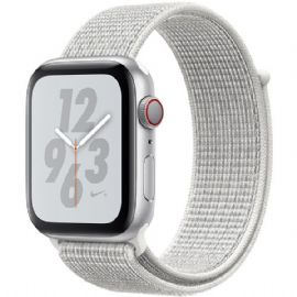 Apple Watch Nike+ Series 4 GPS + Cellular, 40mm Silver Aluminium Case with Summit White Nike Sport Loop