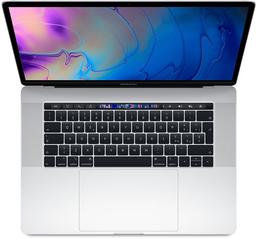 "Apple MacBook Pro 15"" Touch Bar i7 6-core 2.2GHz / RAM 16Gb / SSD  256GB / Radeon Pro 555X with 4GB GDDR5 - Silver - Internazionale"