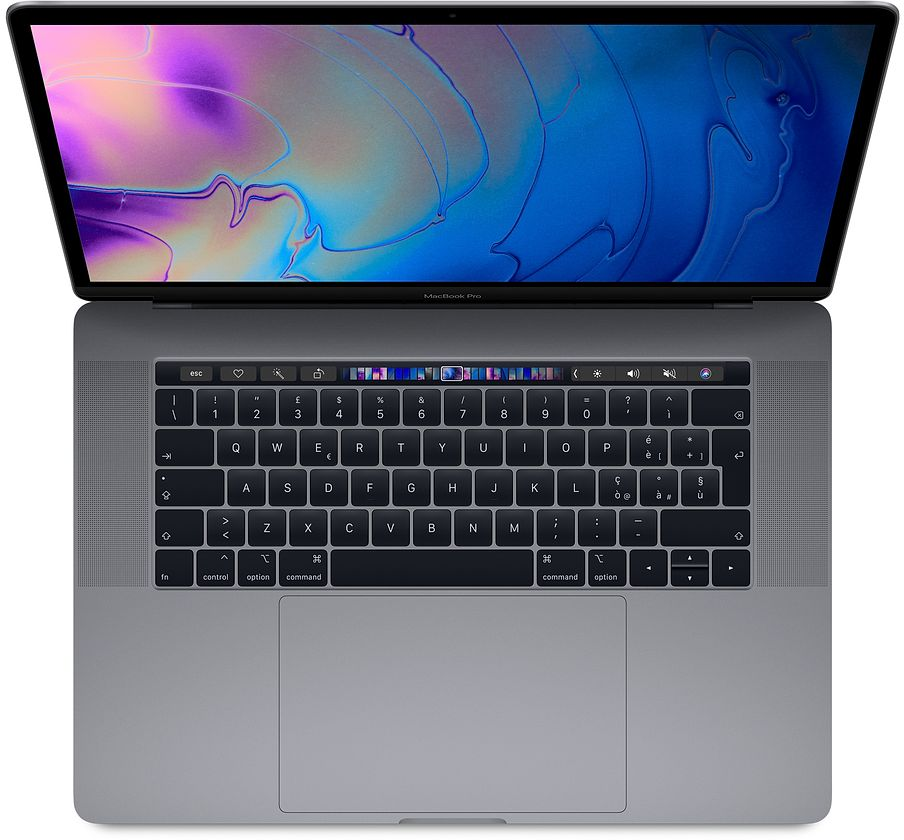 "Apple MacBook Pro 15"" Touch Bar i7 6-core 2.2GHz / RAM 16Gb / SSD  256GB / Radeon Pro 555X with 4GB GDDR5 - Space Grey - Internazionale"
