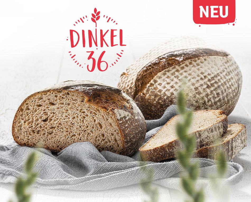 Dinkel36 – Unsere 36 Stunden gereifte Brotspezialität