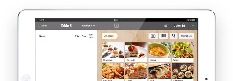 poster menu tablet screen