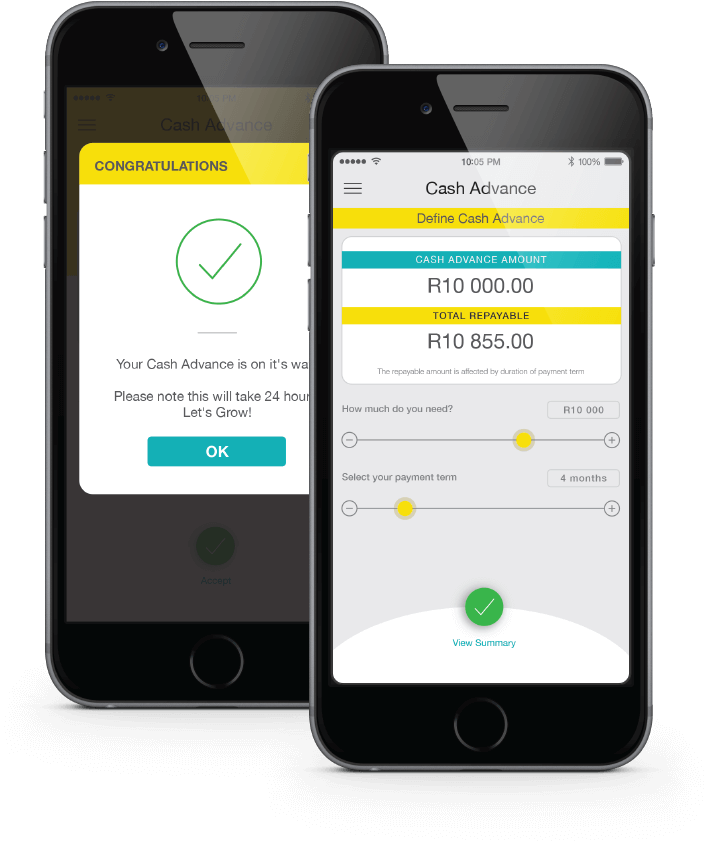 ikhokha cash advance app screens