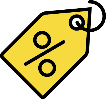 poster discount-based program icon