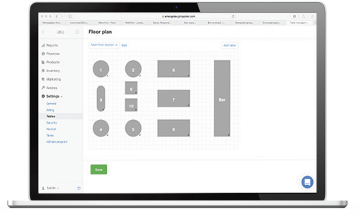 poster configure layout screen