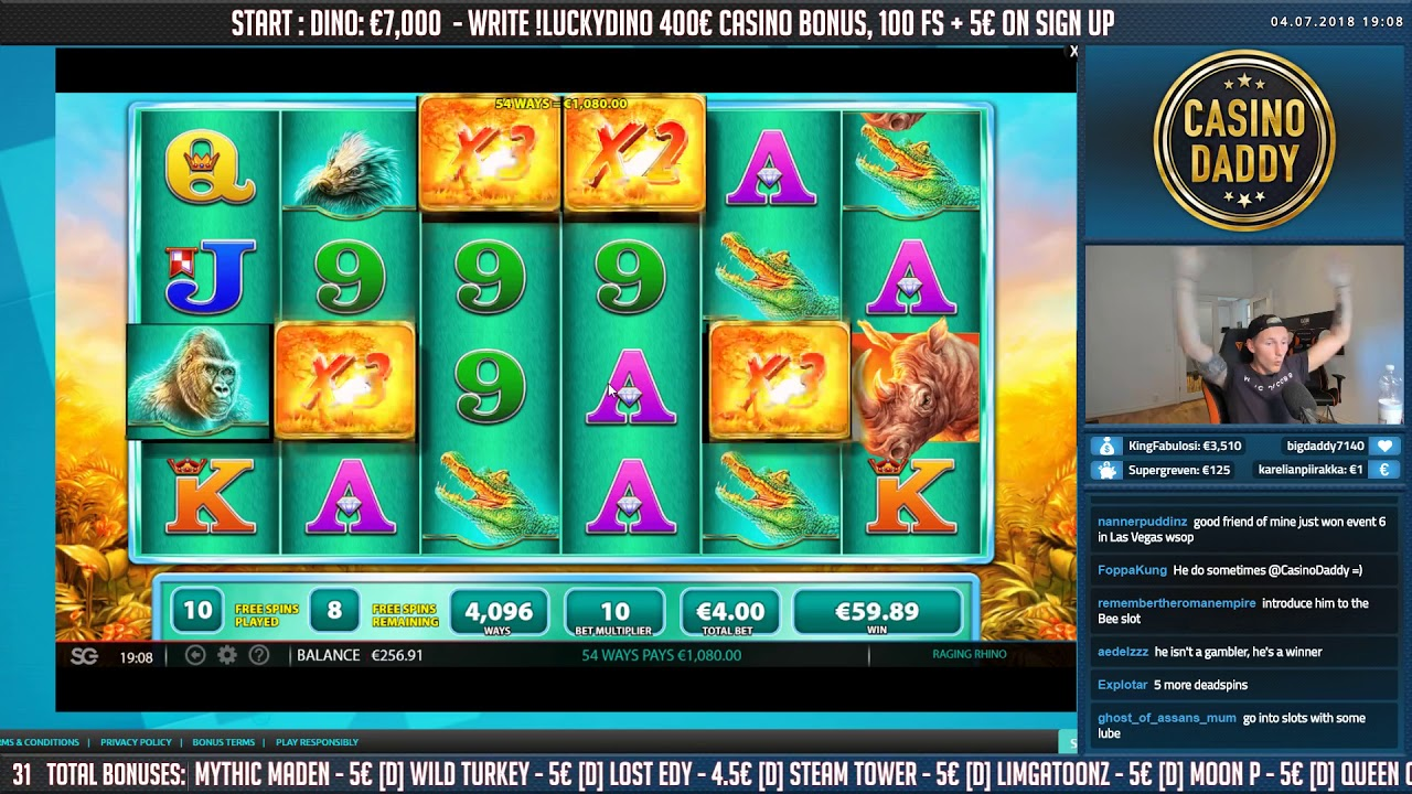 Big Win on Raging Rhino Slot