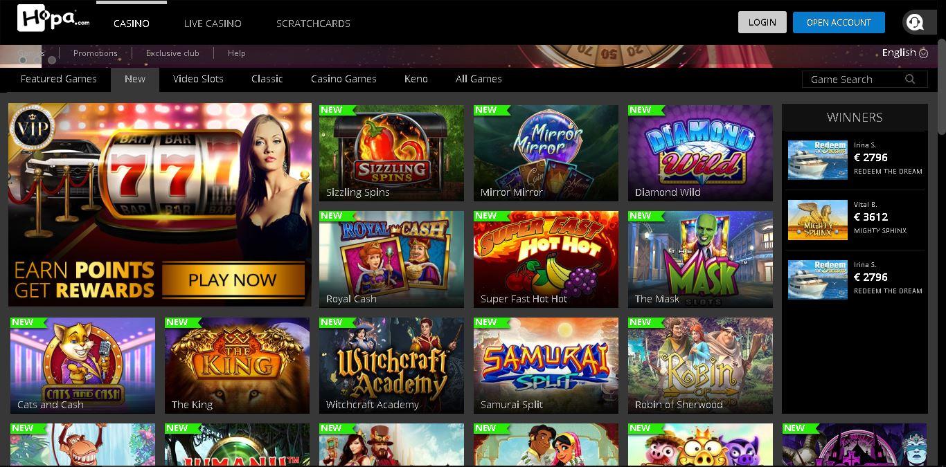 hopa casino slots