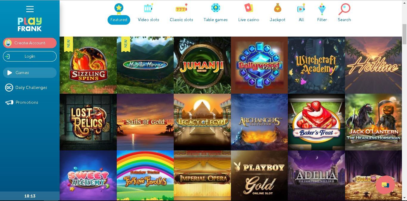 playfrank casino slots