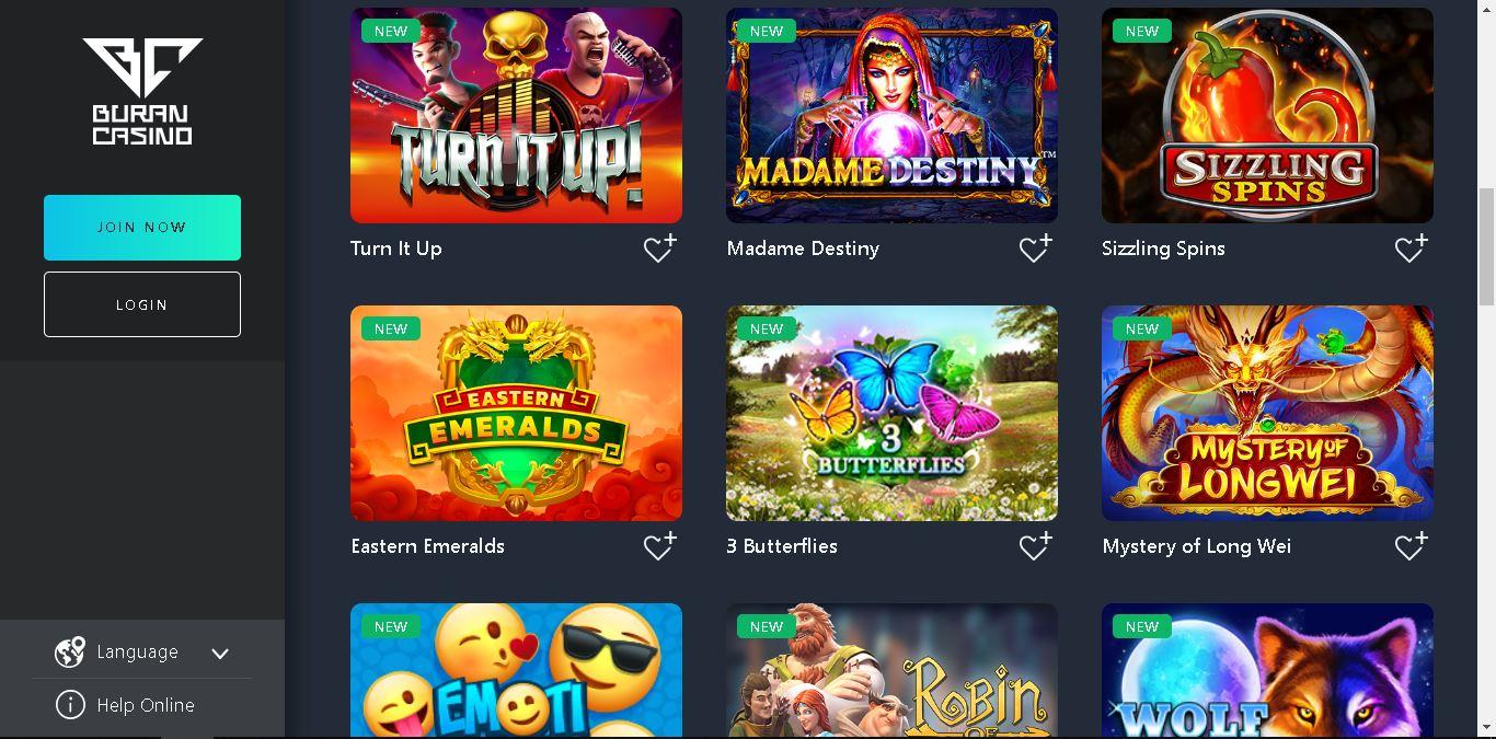 buran casino slots