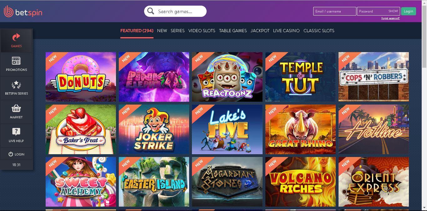 betspin casino slots