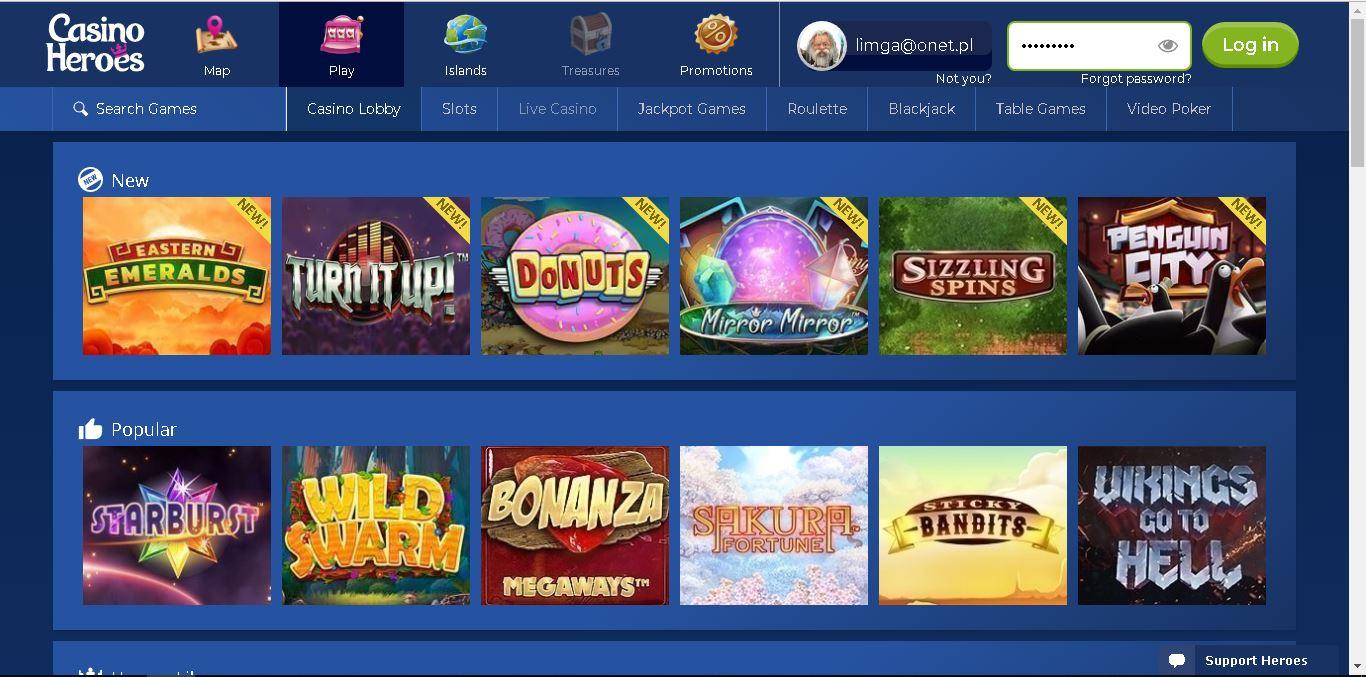 casino heroes slots