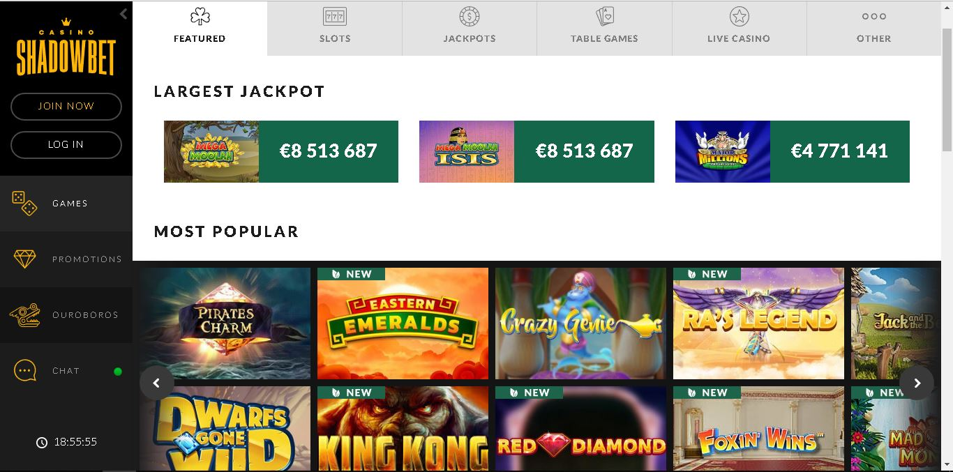 shadowbet casino slots