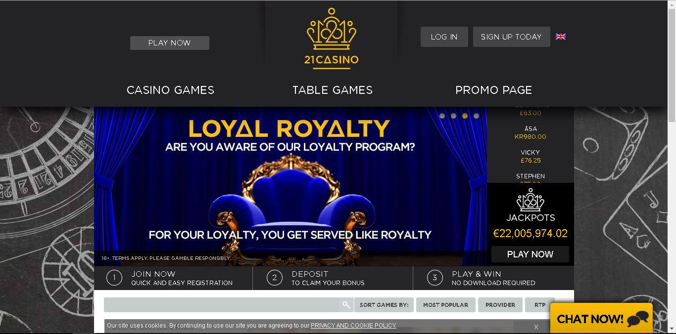 официальный сайт казино 21casino x com