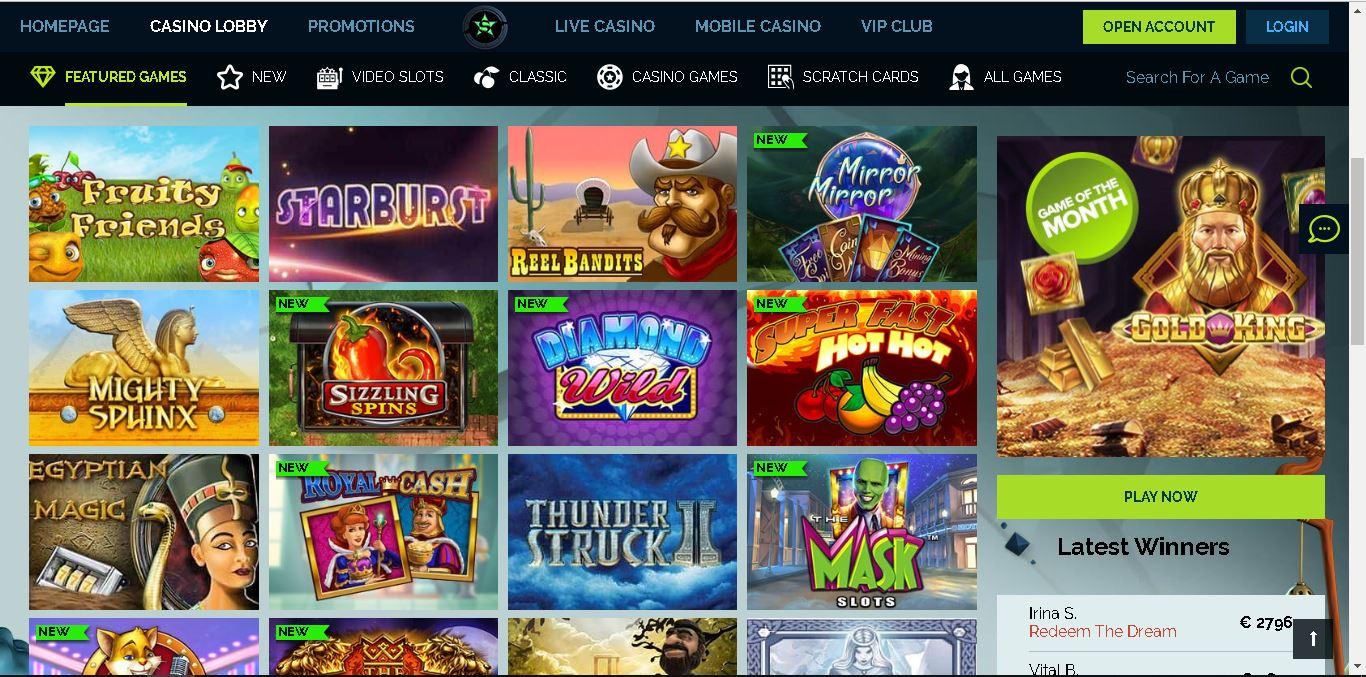 wixstars casino slots