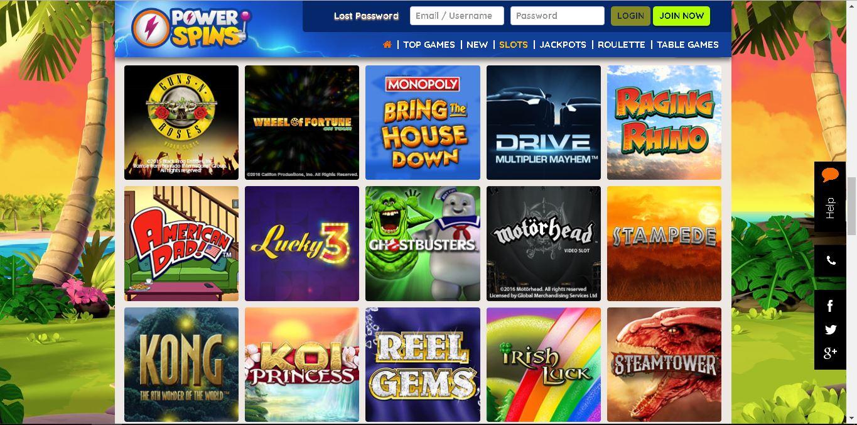 powerspins casino slots