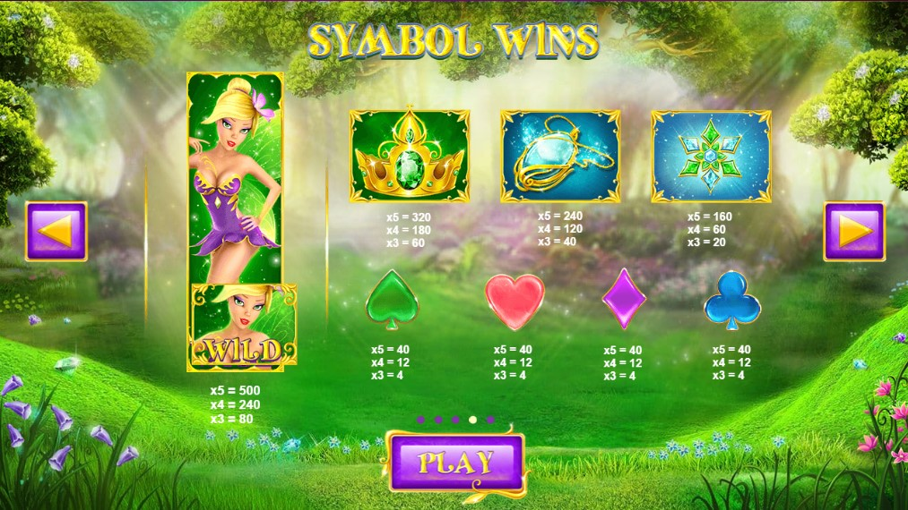 Winter Wonders Slot Paytable