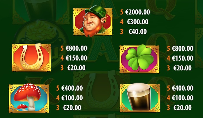 leprechaun-hills-paytable