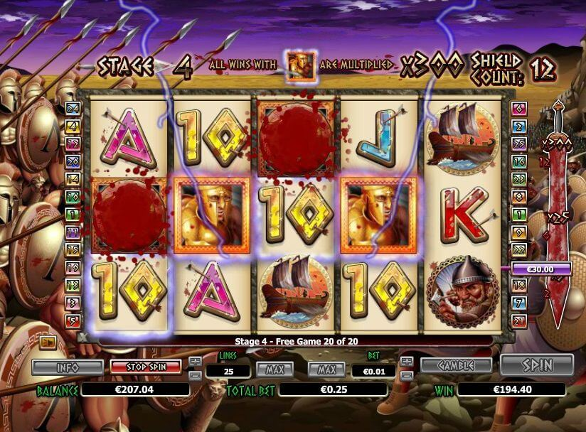 300 shields slot review