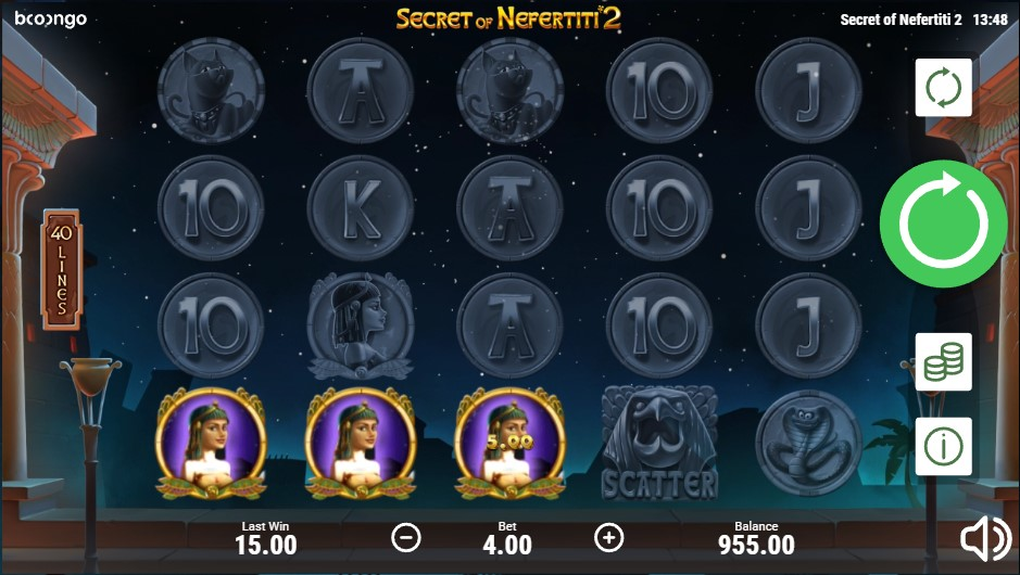 Secret of Nefertiti II slot by Booongo