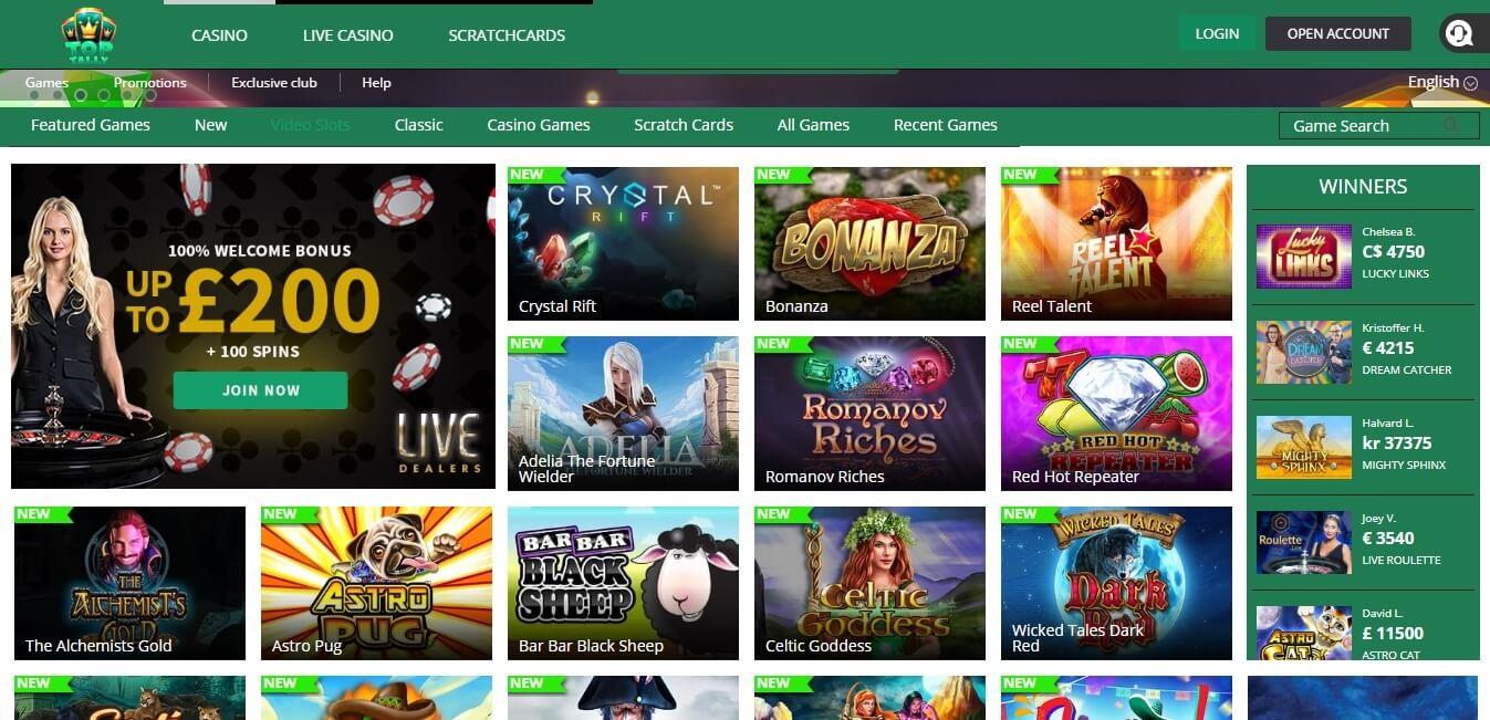 toptally casino slots