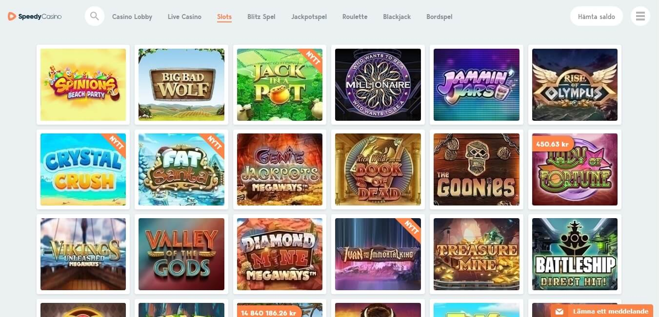 speedy casino slots