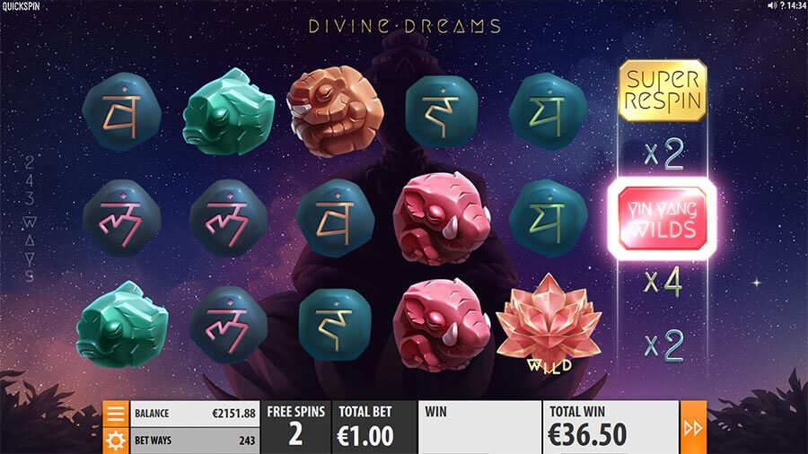 divine dreams quickspin slot