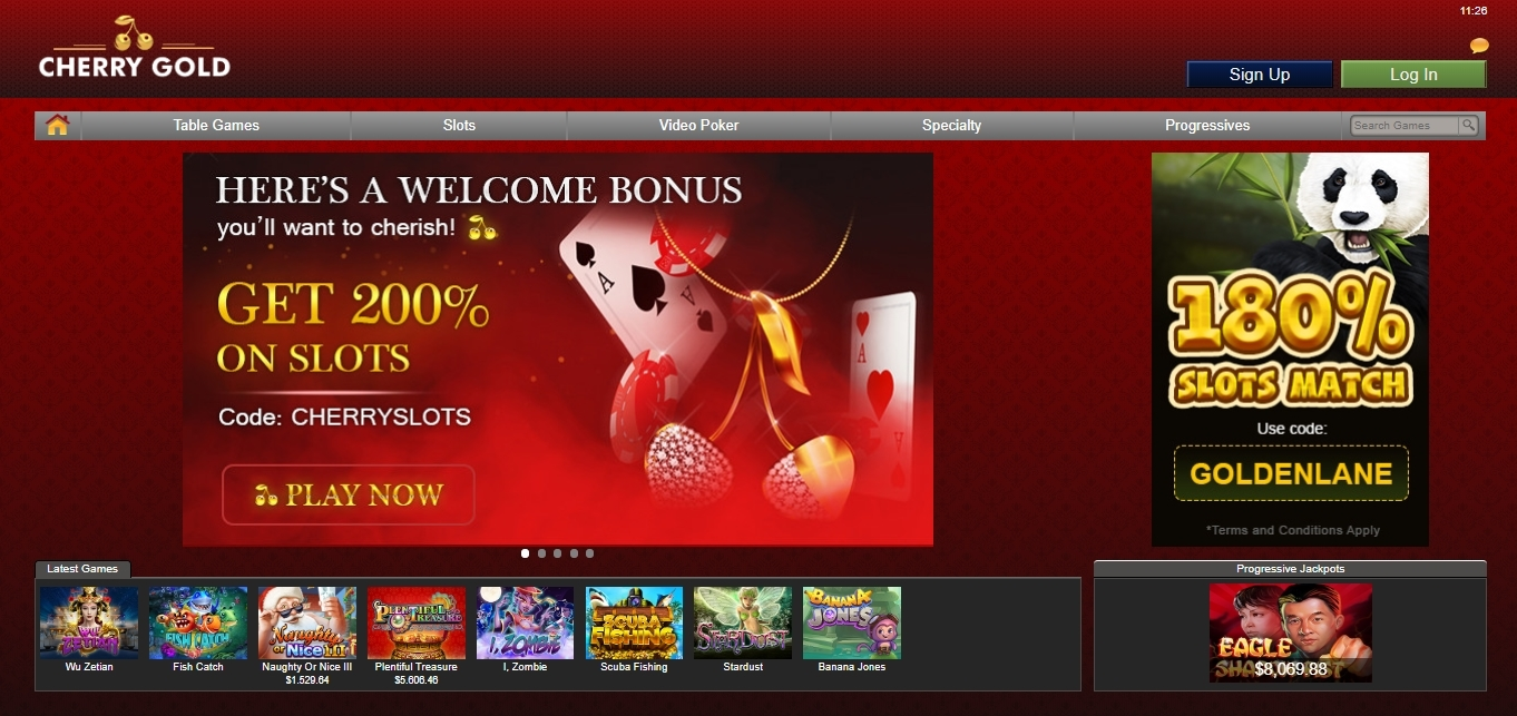 Cherry Gold Online Casino Review And Bonus Aboutslots
