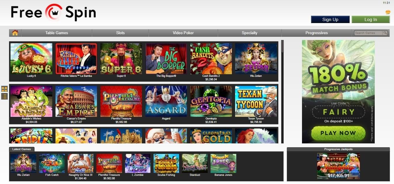 freespin casino slots