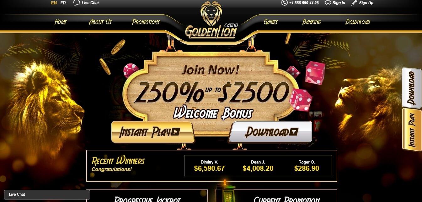 goldenlion casino bonus