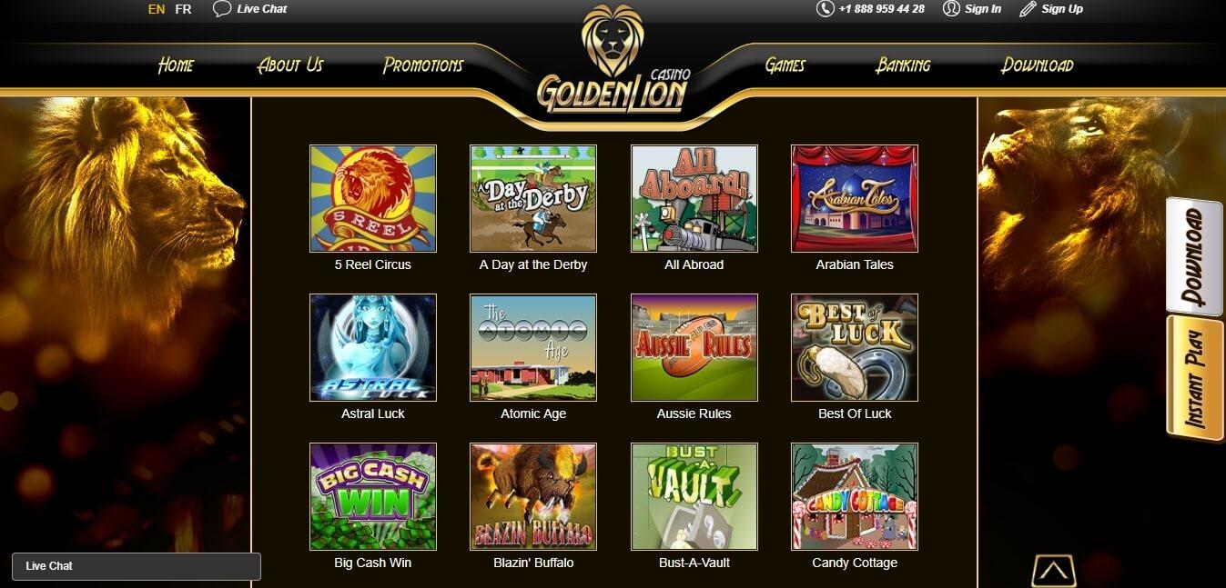 goldenlion casino slots