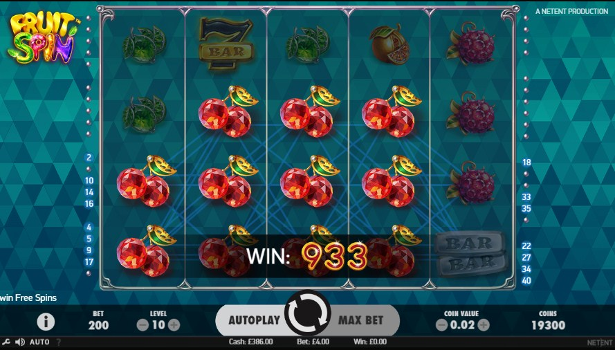 Fruit Spin video slot